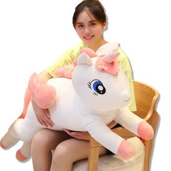 New Arrival Super Angel Unicorn Huggablle Big Size Stuffed Animal Horse Unicorn Doll Toy Kids Gift