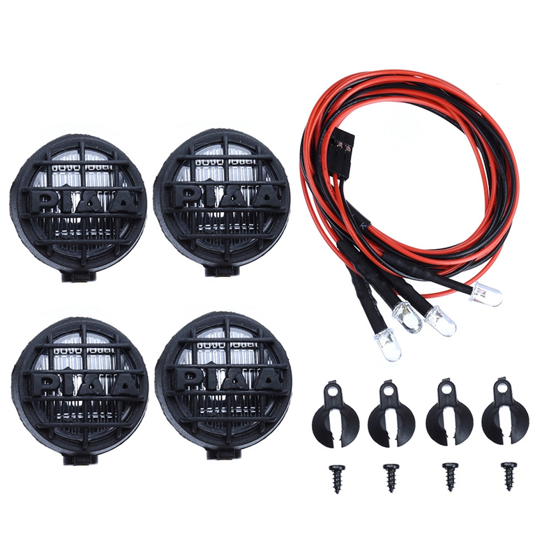 4 Led White Light with Lampshade for 1/10 Traxxas Hsp Rc Crawler Accessory Rc Car Parts