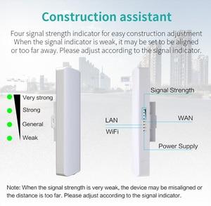 Image 4 - 3 5 קילומטר מרחק 300Mbps חיצוני Wifi נתב CPE 2 * 14dBi Wifi אנטנה גבוהה כוח 2.4g WIFI מהדר rj45 poe אלחוטי גשר