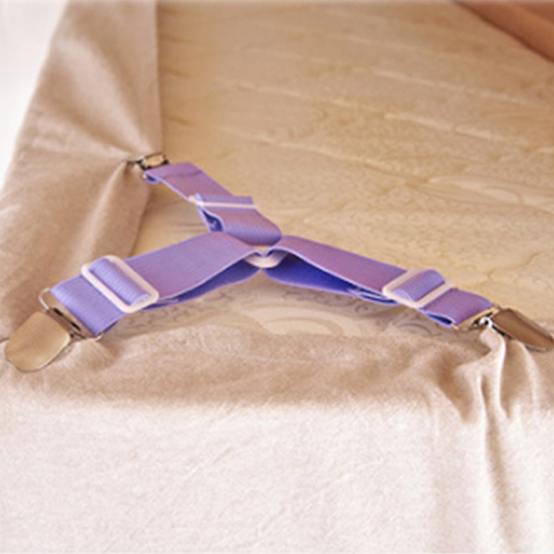 4PCS/1PCS Blue/Coffee/Pink/Purple Adjustable Triangle Bed Sheet Fasteners For Table Cloths Sofa Covers