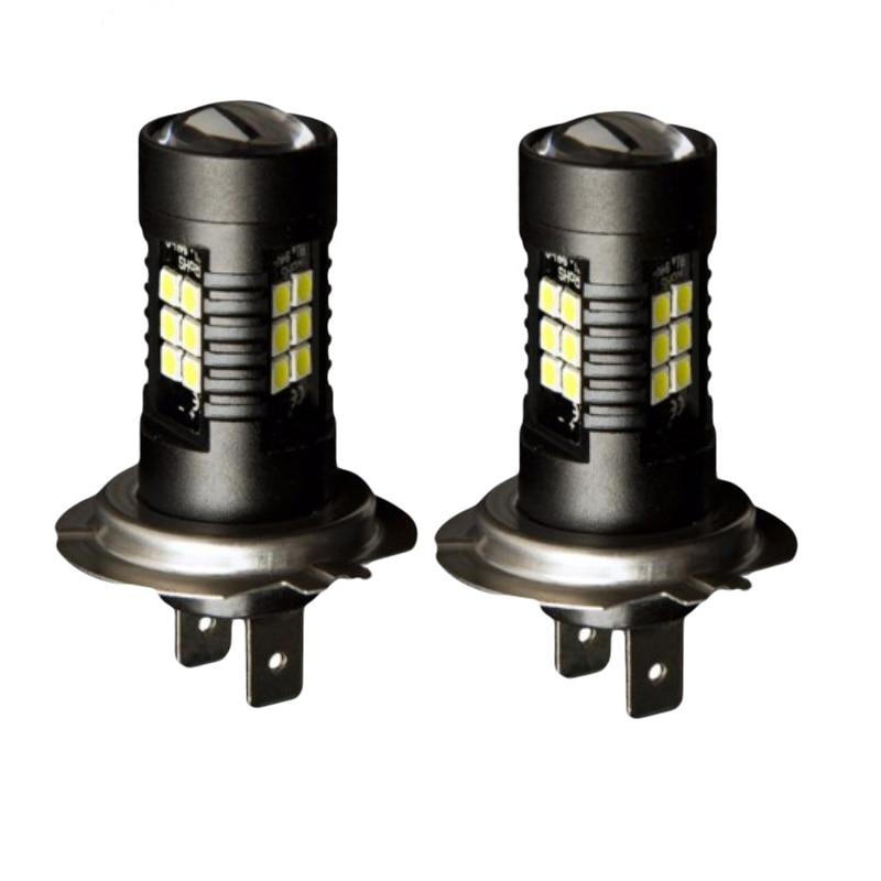 2PCS LED Car Bulbs H7 21 SMD 3030 Super Bright Auto Led Bulb Lamp 6000K Fog Light Cars Driving Lamp DRL