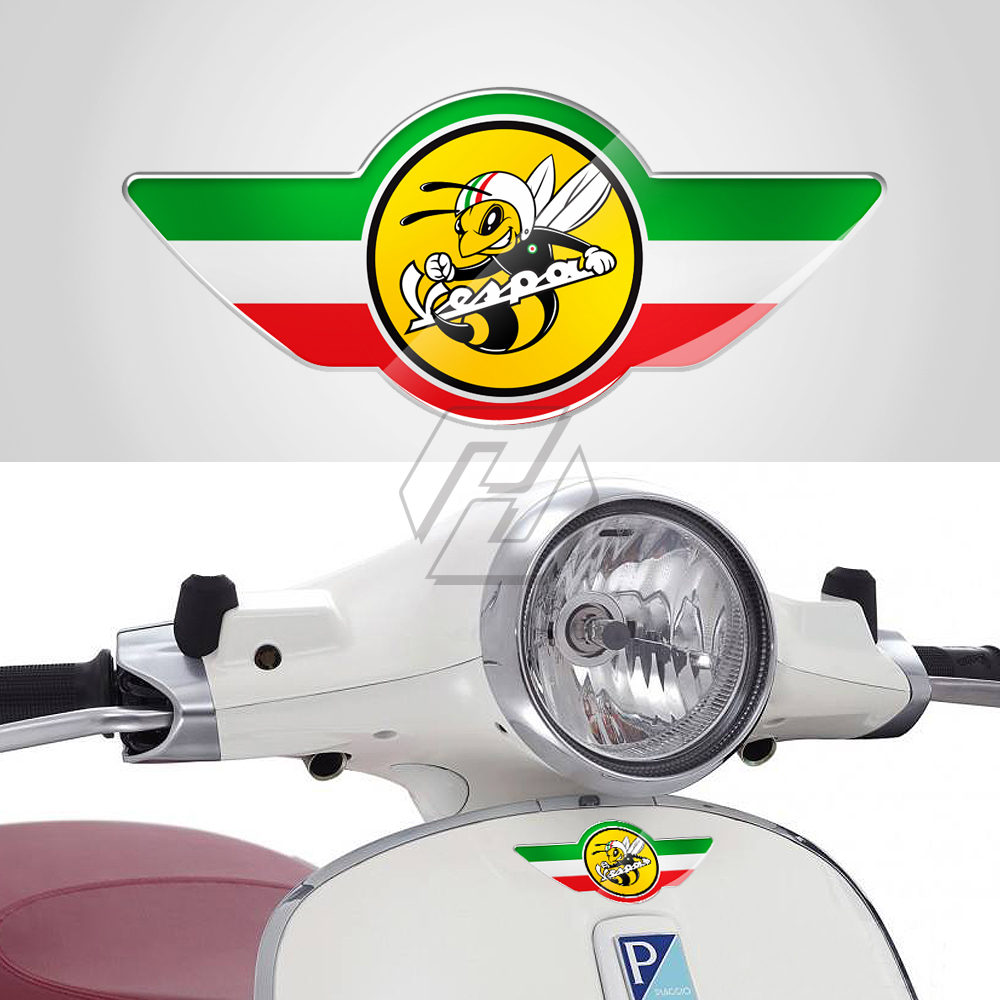 3D Italy Flag Stickers Case For PIAGGIO VESPA GTS GTV LX 150 125 250 300 300ie Etc