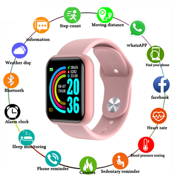 D20 Bluetooth Smart Watch Men Sport Smartwatch Heart Rate Monitor Blood Pressure Tracker Fitness Bracelet For Apple IOS Android dtno 1 s9 nfc smartwatch heart rate monitor bluetooth smart watch for ios android bracelet heart rate monitor activity tracker