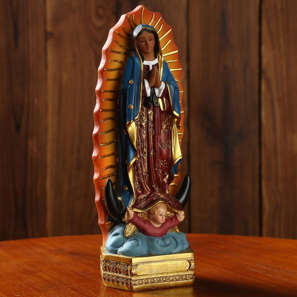 Красивые Гваделупской Статуя Девы Марии Скульптура смолы фигурка Рождественский подарок Дисплей Декор Орнамент