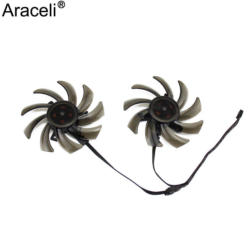 2PCS/lot 85mm Fan GA91S2U GPU Cooler Fan Replace For Palit <font><b>GeForce</b></font> GTX1060 GTX1080 GTX1070 <font><b>GTX1070Ti</b></font> 8G Dual Video Card Fan image