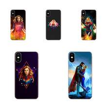 Captain Marvel Luxury High-End Phone Case For Samsung Galaxy Note 5 8 9 S3 S4 S5 S6 S7 S8 S9 S10 5G mini Edge Plus Lite(China)