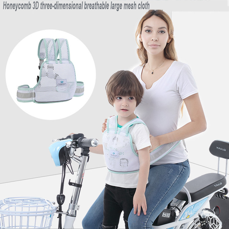 Baby Safety Harness Protection Breathable Baby Safety Belt Reflective Electric Motorcycle Protection Belt For Prevent Falling