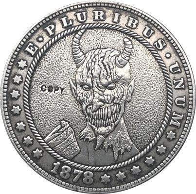 Хобо Никель 1878-CC сша Морган долларовая Монета КОПИЯ Тип 136