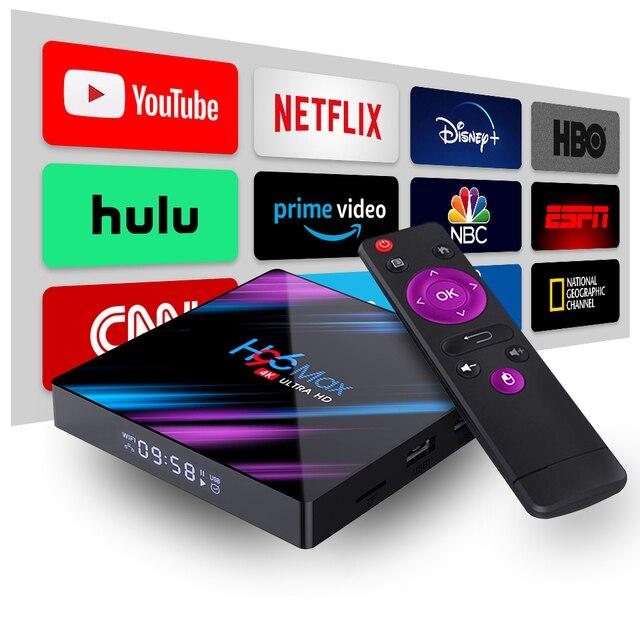 Set Top TV Box 4G DDR3 USB 3.0 Bluetooth 4.0 Android 9.0 9 OS 4K 4096x2160 H96 Smart Penta-Core Mali-450 RK3318 GPU 2.4G/5G 5