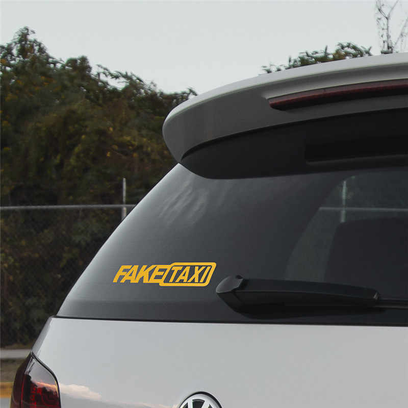Ngộ Nghĩnh Giả Taxi Cho Xe Hơi Miếng Dán Faketaxi Decal Quốc Huy Tự Dính Vinyl Đa Năng Cho Xe BMW Ford TOYOTA VW HONDA Xe Kia opel Kia