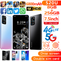 7.5 inch Galay S20 network Free Shipping 8GB RAM 256GB ROM Octa Core 4 Camera Snapdragon 855 smart phone wholesale Cheap phone