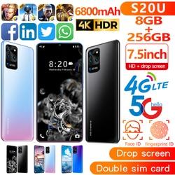 7,5 zoll Galay S20 netzwerk Freies Verschiffen 8GB RAM 256GB ROM Octa Core 4 Kamera Snapdragon 855 smart telefon großhandel Günstige telefon