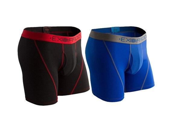 """2 Pack ExOfficio Men Underwear Mens Sport Mesh 6"""" Boxer Brief Breathable Lightweight Quick Drying Man Underwear USA Size S XXL"""