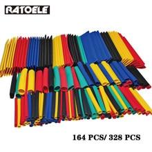 164Pcs 328Pcs Heat Shrink Tube Kit Shrinking Assorted Polyolefin Insulation Sleeving Heat Shrink Tubing Wire Cable 8 Sizes