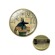 Dropshipping Egypt Mythology Death Anubis brooches Egyptian Jackal God Underworld Gatekeeper pins Fallout4 Jewelry(China)