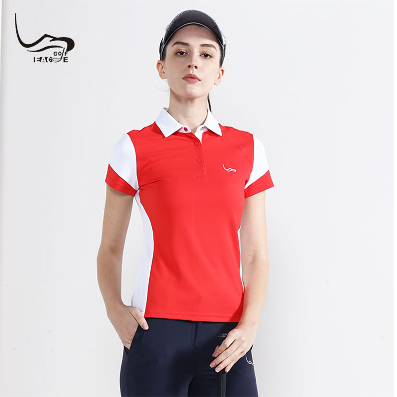 2019 EAGEGOF Ladies Golf Shirt Short sleeve Summer Women's golf shirts anti-UV girl Sportswear fashion golf clothing