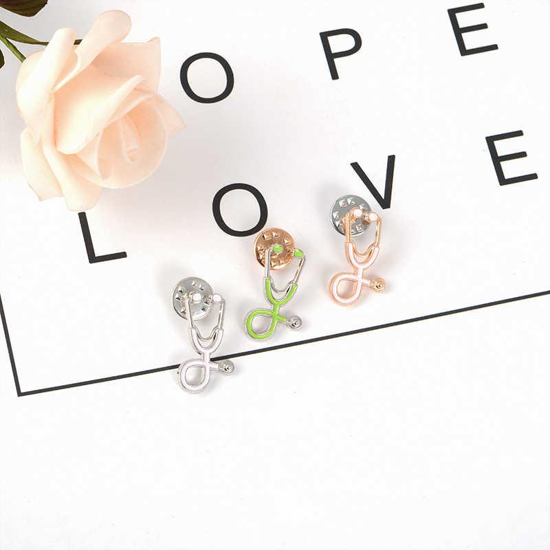 Dokter Stetoskop Pin Warna-warni Mesin Medis Bros untuk Lulusan Medis Kemeja Tas Kerah Enamel Pin Lencana Perhiasan Hadiah