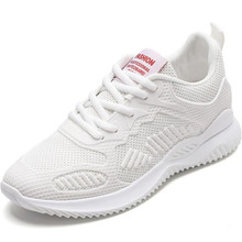 laikihan New designer popular womens shoes autumn breathable leisure flying woven mesh female sneakers platform