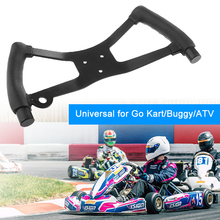 1 Pcs Balck Go Kart Steering Wheel Butterfly H Style Assembly Set for Universal Go Kart/Buggy/ATV 13 x 6.3 Inch Steering Wheel 350mm steering wheel 520mm gear pinion 490mm u joints tie rod assy fit for diy china go golf kart buggy karting utv bike parts