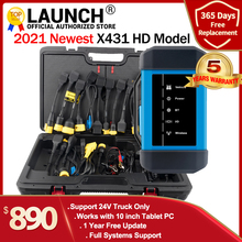 Launch X431 HD III 24V Truck full system diagnostic support work with X431 V+ X431 PRO3 PADII Multi language update online