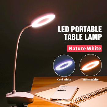 Portable Table Lamp Led Desk Touch Clip Study Lamps USB Desktop Read Lights Bedroom Night Light Rechargeable 18650 Battery - discount item  29% OFF Indoor Lighting