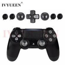 IVYUEEN สำหรับ Sony PS4 DualShock 4 Pro Slim Controller อลูมิเนียมโลหะ Dpad Thumbsticks ปุ่ม Mod Kit สำหรับ PlayStation 4