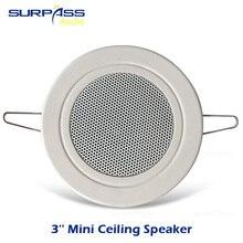 Mini Ceiling Speaker 3inch Roof Speaker Horn PA System Subwoofer For Home Background Music Cinema Theater Speaker Unit