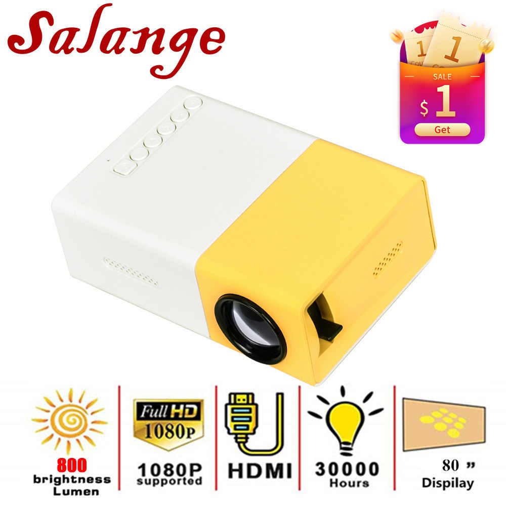 Salange YG300 Pro Projector LED 800 Lumens 3.5Mm Audio 320X240 Piksel HDMI USB Mini Proyektor Home Media pemain