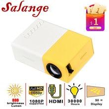 Salange YG300 Pro Projektor LED 800 lumen 3,5mm Audio 320x240 Pixel HDMI USB Mini Projektor Home Media player