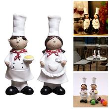 1 Pair of Creative Boy Girl Chef Decoration Home Decoration Resin Crafts Wine Cabinet Window Restaurant Bakery Decoration(China)