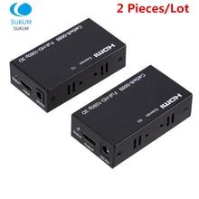 1 Pair 1080P HDMI-compatible Extender Extension Cord Converter Via CAT 5e 6 6e UTP RJ45 LAN Network Card Ethernet Cable