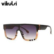 Brand Design Color Sunglasses Women Flat Top