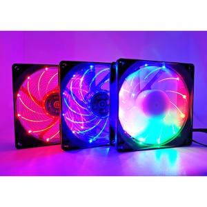 Image 2 - 눈사람 90mm 4 핀 PWM 팬 92mm 컴퓨터 케이스 팬 침묵하는 9CM CPU 냉각 팬 조용한 PC 냉각기 팬 RGB 팬 DC 12V 조정 팬 속도