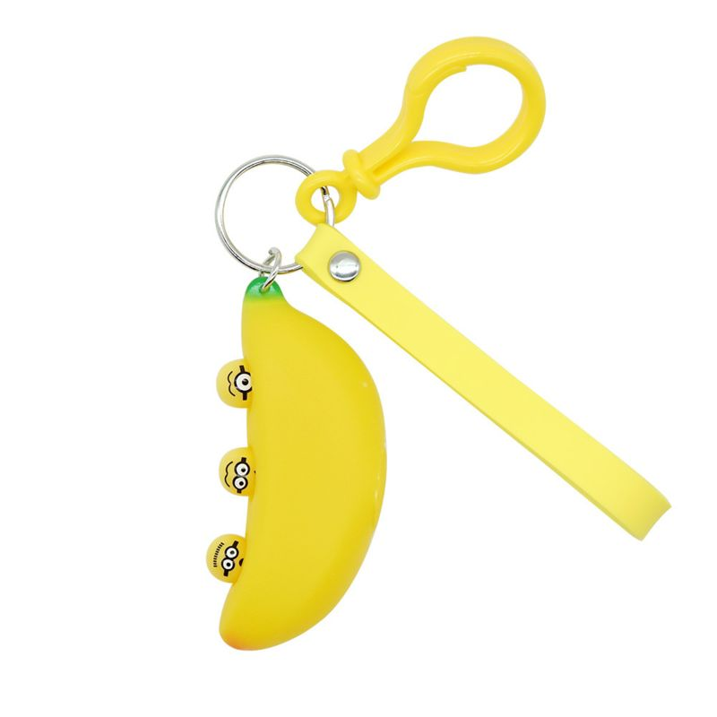 Banana Keychain Pendant Squeeze Toy Stress Relief Novelty Gag Toys Kid Toy Gift R7RB