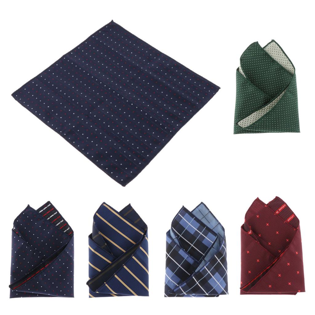Cotton Handkerchiefs For Men & Women - Retro Plaids / Dots / Stripes Hankies Fashion Pocket Squares Gifts