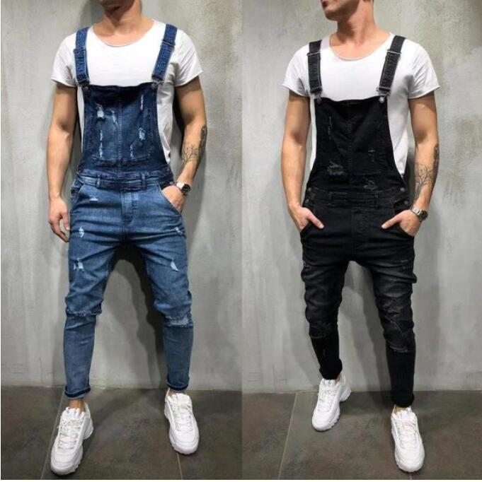 Man Real Camisole Cowboy Cloth Even Pants Tearing The Jeans Hi Street Distressed Denim Trousers Fashion Men's Pants