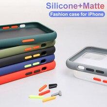 Antichoc Étui de Téléphone Couverture Arrière Pour iPhone 12 11 Pro Max Translucide Étui Souple Pour iPhone X XS Max XR 10 8 7 6S Plus SE 2020 Ca