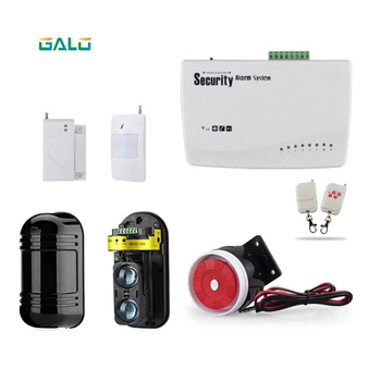 Home-front Wireless GSM Alarm System wired Wall protection Alarm Systems Security Home For fences or farms
