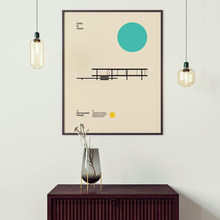 Wohnkultur Leinwand Poster Farnsworth Haus Ludwig Mies van der rohe Minimal Architektur Bauhaus Design Kunstwerk