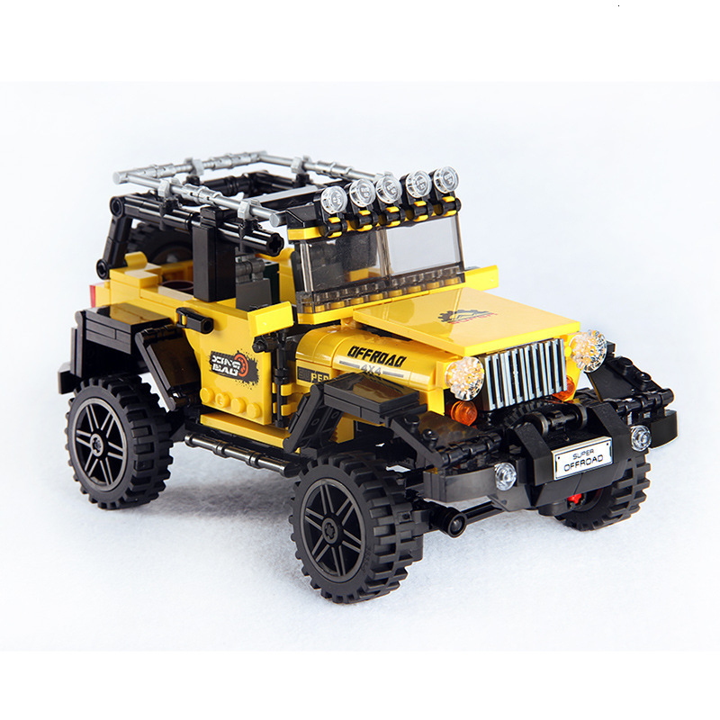 610pcs Offroad Adventure Set Building Blocks Car Series Bricks Toys For Kids Educational Kids Gifts Model Compatible Plastic