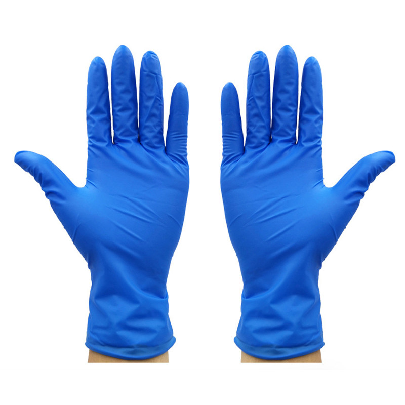 100 Pcs Disposable Latex Gloves For Home Cleaning Food/Rubber/Garden Gloves For Left And Right Hand Safety Health Blue