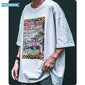 punk Streetwear T Shirt Men 2020 Summer Vintage Letter Print Tshirt Harajuku Oversize Loose Hip Hop Casual Cotton oversized 2020 summer women oversized tee shirt punk tie dye print loose t shirt female harajuku streetwear hip hop graphic t shirt