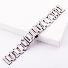 316L Stainless Steel Watch band Bracelet 18mm 20mm 22mm Women Women Fashion Silver Polished Watchband Strap Watch Accessories