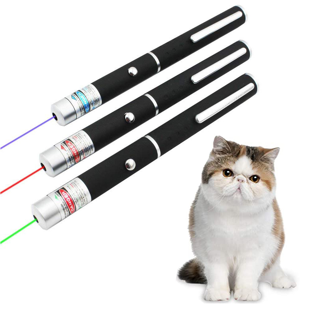 Cat LED Laser Toy Laser Toy Cat Pointer Light Pen Interactive Toy Pointer for Chasing Training Mini Flashlight for Pet
