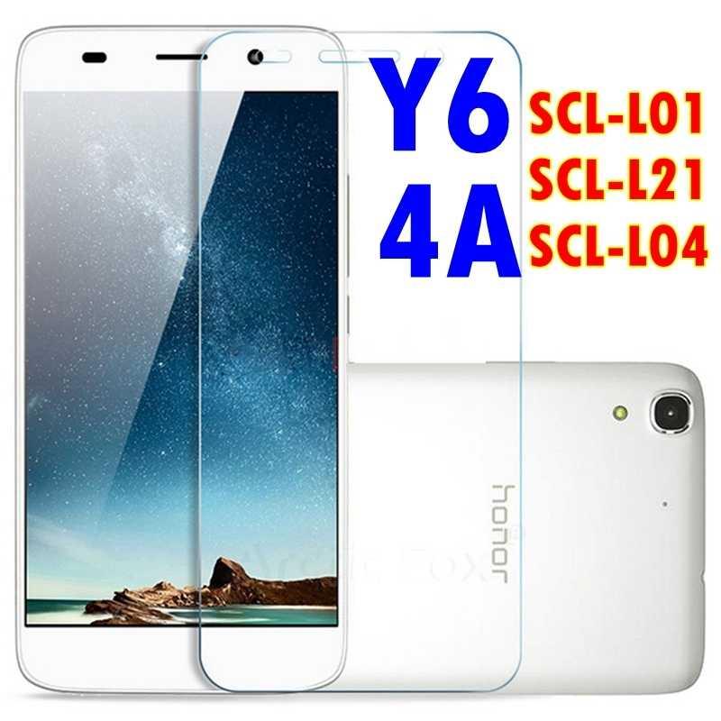 Premium temperli cam huawei y6 Onur 4A SCL-L01 SCL-L21 SCL-L04 Telefon koruyucu koruyucu film kapak kılıf
