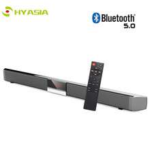 HYASIA Upgrade SR100 TV Soundbar Bluetooth 5.0 Speaker Wireless Sound bar TV LED Subwoofer Loudspeaker Home Theater Sound System lonpoo 2017 newest bookshelf speaker 2 way 75w classic wooden loudspeaker for home theater system black