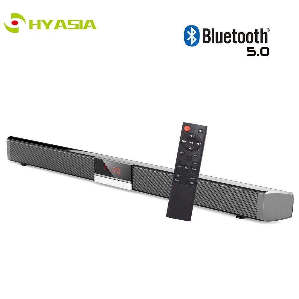 HYASIA mise à niveau SR100 TV barre de son Bluetooth 5.0 haut-parleur sans fil barre de son TV LED Subwoofer haut-parleur Home cinéma système de son