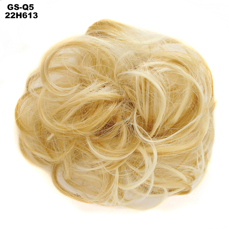 MERISI HAIR Women Curly Chignon Hair Clip In Hairpiece Extensions Bun For Brides  Synthetic High Temperature Fiber Chignon