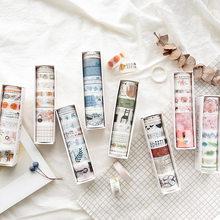 8 teile/los Mohamm Farbe Leben Serie Serie Handbuch Tagebuch DIY Dekorative Washi Tapes Set Sammelalbum Liefert Aufkleber Scrapbooking