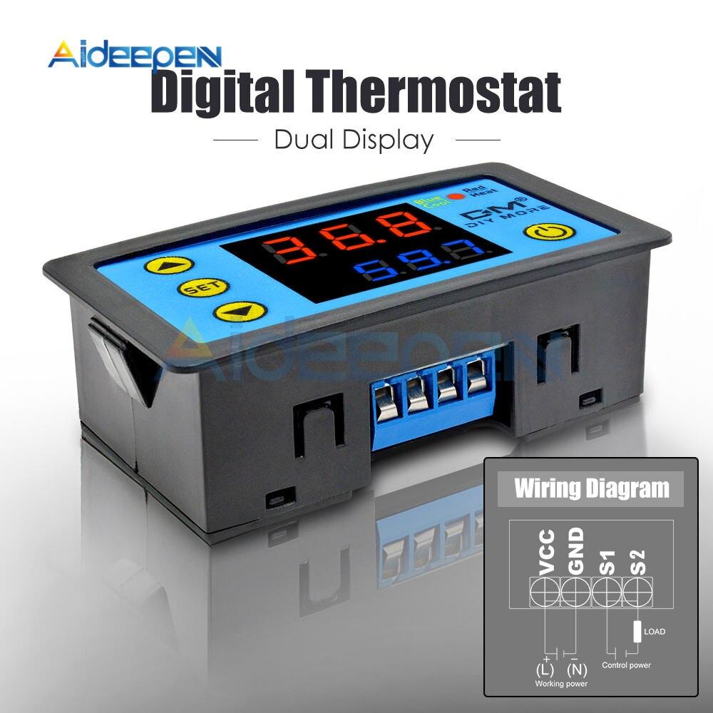He410c27553d04ac0911604be9b9dc0669 W3230 AC 110V-220V DC12V 24V Digital Thermostat Temperature Controller Regulator Heating Cooling Control Instruments LED Display